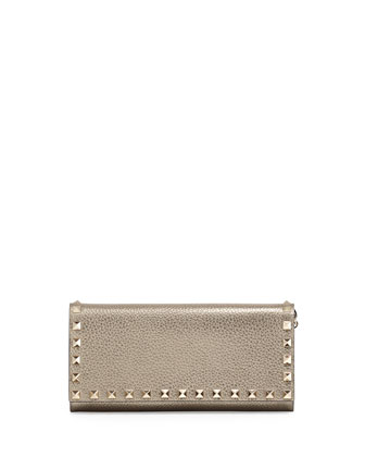 Rockstud Wallet on a Chain, Gold