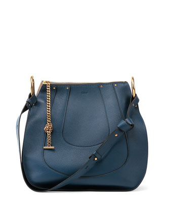 Hayley Small Hobo Bag, Navy