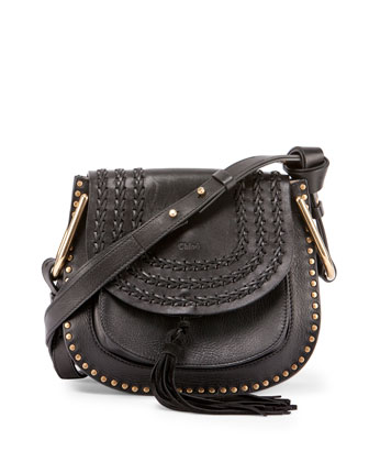 Hudson Medium Shoulder Bag, Black
