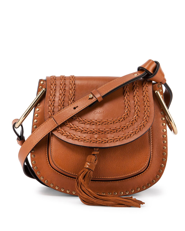 Hudson Medium Shoulder Bag, Caramel, Size: M - Chloe