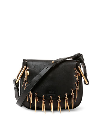 Hudson Mini Charm Shoulder Bag, Black