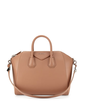 Antigona Medium Sugar Satchel Bag, Light Pink