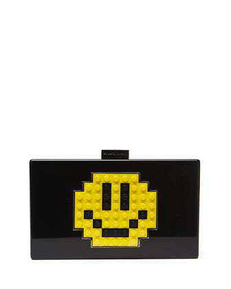 Grace Smile Clutch Bag, Black