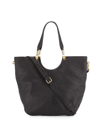 Convertible Large Shopper Bag, Black