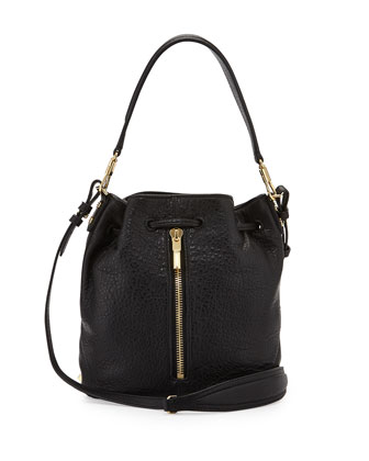 Mini Cynnie Bucket Bag, Black