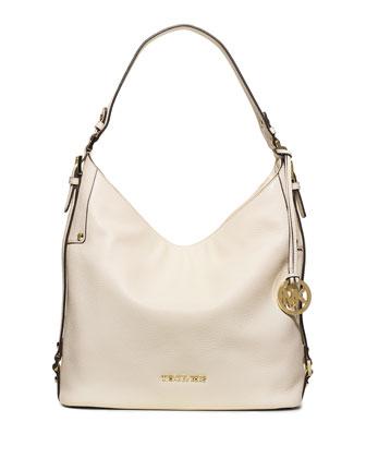 Bedford Large Belted Shoulder Bag, Ecru