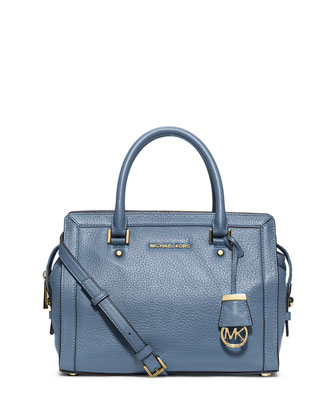 Collins Medium Satchel Bag, Cornflower