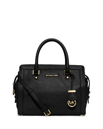 Collins Medium Satchel Bag, Black