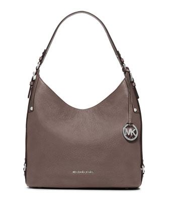Bedford Large Belted Shoulder Bag, Cinder