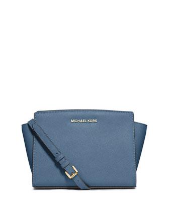 Selma Medium Messenger Bag, Cornflower