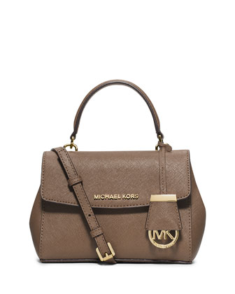 Ava Extra-Small Crossbody Bag, Dark Dune