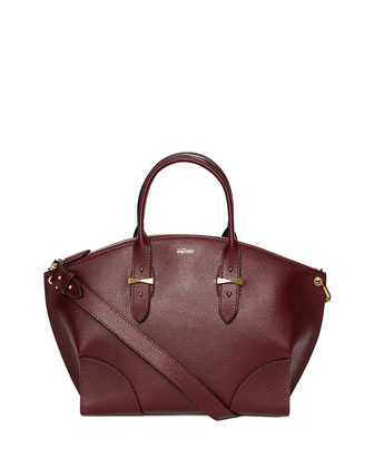 Legend Leather Satchel Bag, Bordeaux