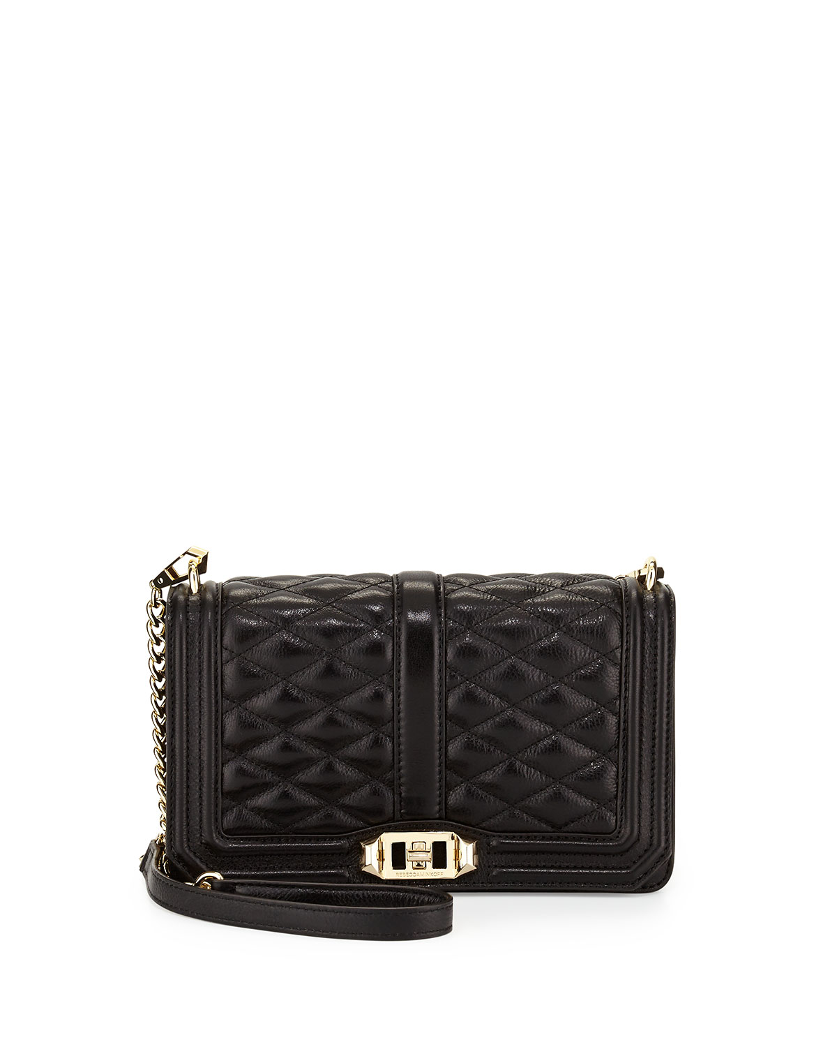 Love Quilted Crossbody Bag, Black - Rebecca Minkoff