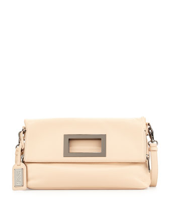 Brynn Leather Crossbody Bag, Latte