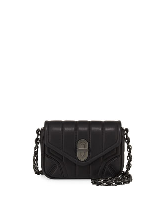 Daria Quilted Mini Crossbody Bag, Black