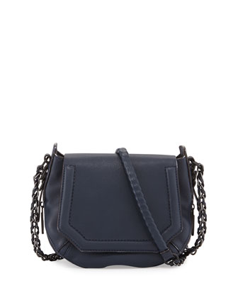 Bradbury Mini Flap-Top Crossbody Bag, Navy