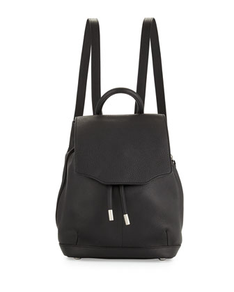 Pilot Mini Leather Backpack, Black