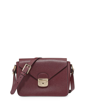 Le Pliage Heritage Large Crossbody Bag, Burgundy
