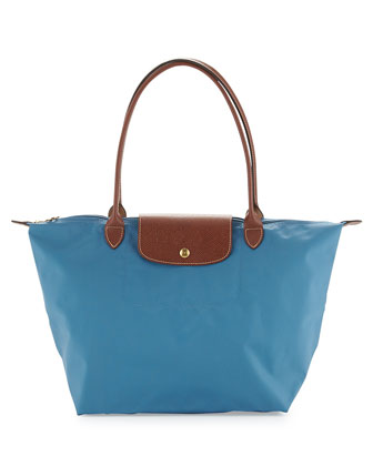 Le Pliage Large Shoulder Tote Bag, Ice Blue