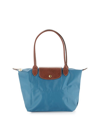Le Pliage Medium Shoulder Tote Bag, Ice Blue