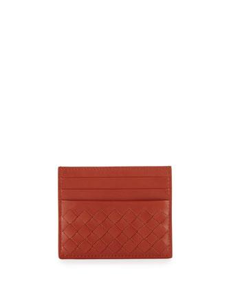 Woven Leather Credit Card Sleeve, Arizona