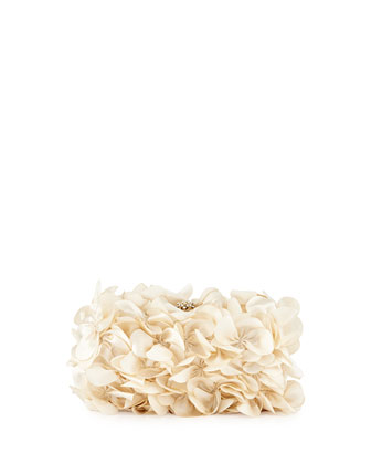 Carla Floral Evening Clutch Bag, Ivory