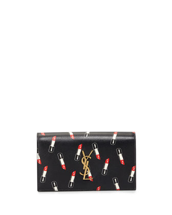 Monogram Lipstick-Print Clutch Bag