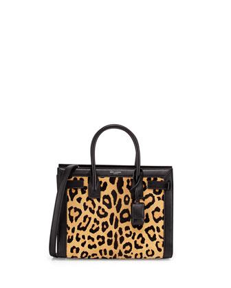 Sac de Jour Mini Leopard-Print Calf Hair Carryall