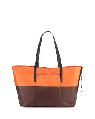 Tatiana Colorblock Tote Bag, Paprika Multi