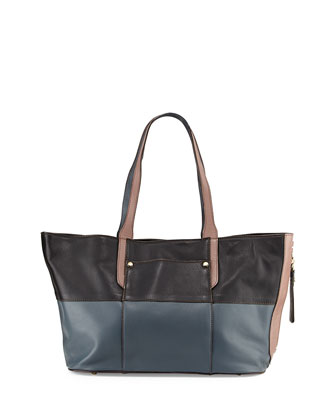 Tatiana Colorblock Tote Bag, Black Multi