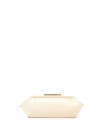 Bridget Satin Clutch Bag, Champagne