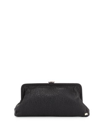 Beekman Leather Clutch Bag, Black