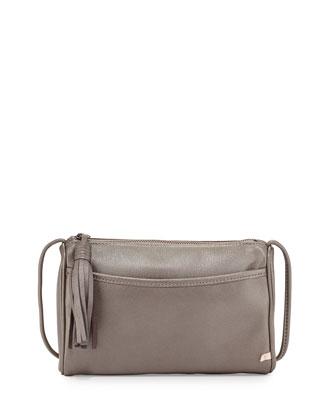 Crosstown Crossbody Bag, Silver Metallic