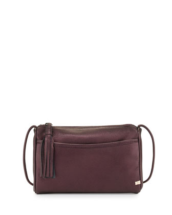Crosstown Crossbody Bag, Plum Metallic