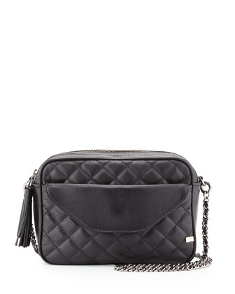 King Quilted Crossbody Bag, Black