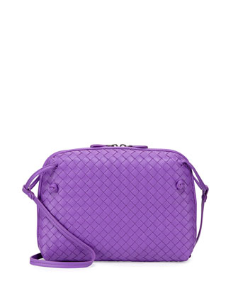 Veneta Small Messenger Bag, Dark Purple