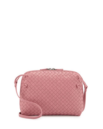 Intrecciato Messenger Bag, Light Pink