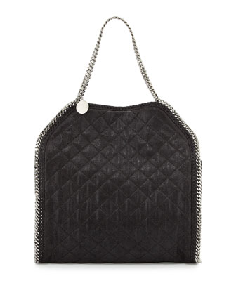Falabella Big Quilted Tote Bag, Black
