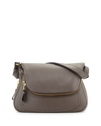 Jennifer Medium Shoulder Bag, Graphite