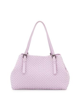 Intrecciato Medium Lambskin Tote Bag, Light Purple
