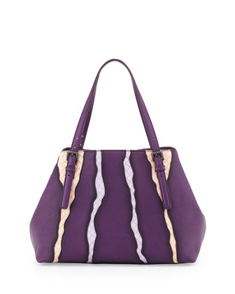 A-Shape Medium Shoulder Bag, Mona Lisa Purple