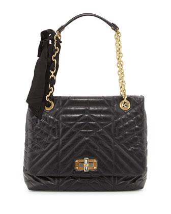 Classic Happy Medium Shoulder Bag, Black