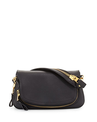 Jennifer East-West Shoulder Bag, Black