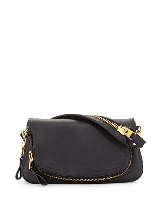 Jennifer East-West Shoulder Bag, Black