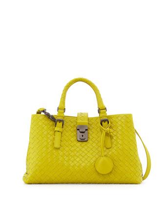 Mini Roma East-West Tote Bag, Chartreuse