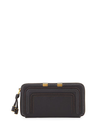 Marcie Zip-Around Wallet, Black