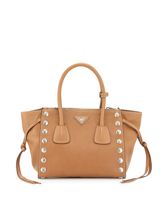 East-West Double-Handle Tote Bag, Caramel