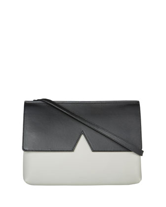 Signature V Colorblock Baby Bag, Pearl/Black