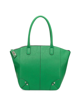 Grayson Faux-Leather Tote Bag, Green