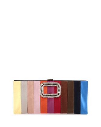 Pilgrim Small Raso Rainbow Clutch Bag, Multi